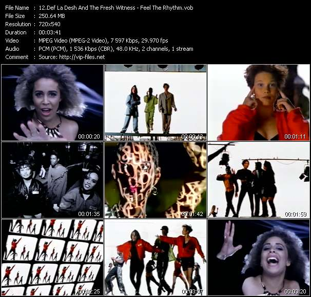 Screenshot of Music Video Def La Desh And The Fresh Witness - Feel The Rhythm