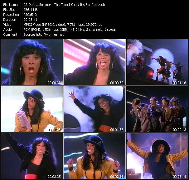 Screenshot of Music Video Donna Summer - This Time I Know It's For Real