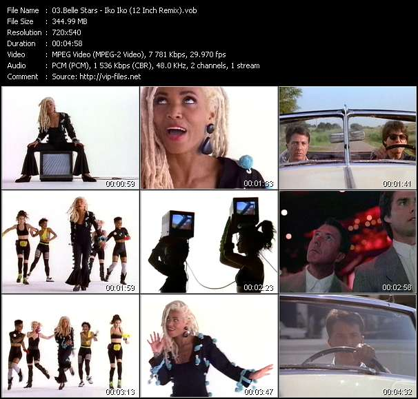 Screenshot of Music Video Belle Stars - Iko Iko (12 Inch Remix)