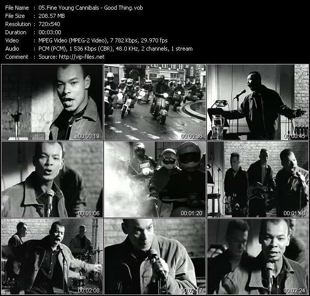 Screenshot of Music Video Fine Young Cannibals - Good Thing