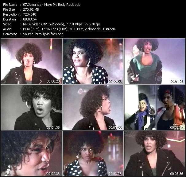 Screenshot of Music Video Jomanda - Make My Body Rock