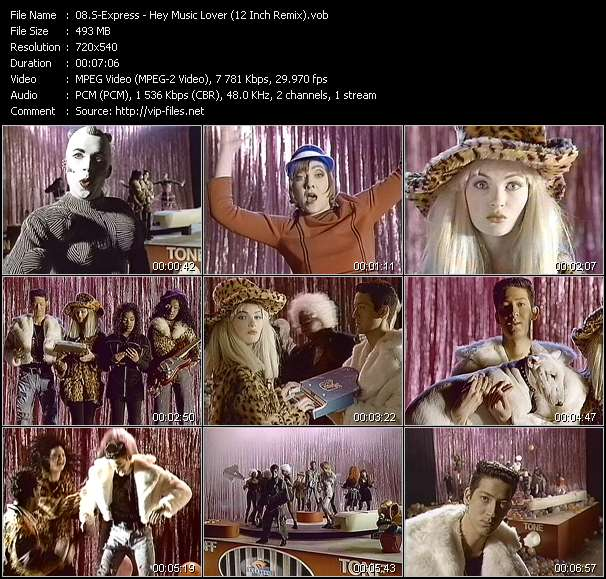 Screenshot of Music Video S-Express - Hey Music Lover (12 Inch Remix)