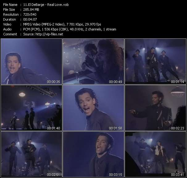 Screenshot of Music Video El DeBarge - Real Love