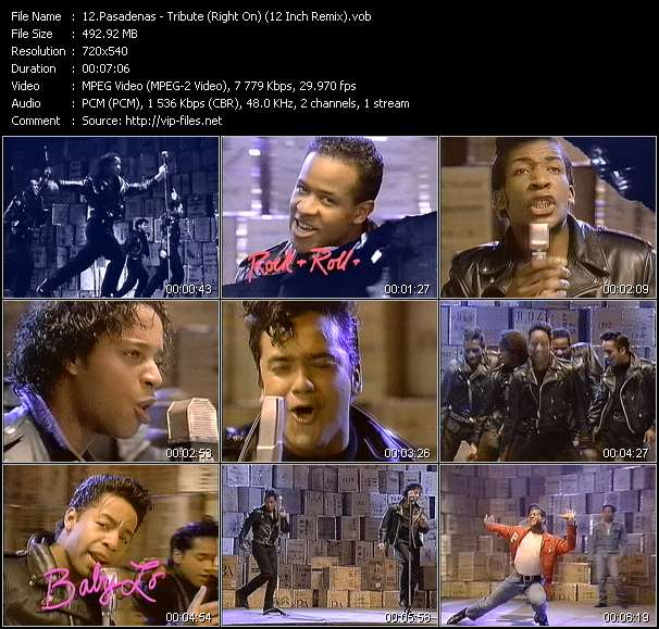 Screenshot of Music Video Pasadenas - Tribute (Right On) (12 Inch Remix)
