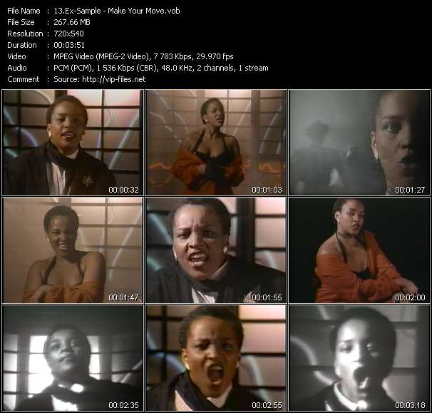 Screenshot of Music Video Ex-Sample - Make Your Move