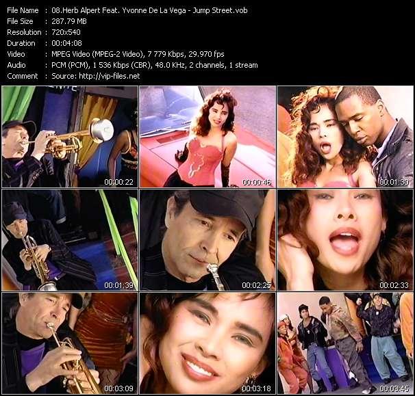 Screenshot of Music Video Herb Alpert Feat. Yvonne De La Vega - Jump Street