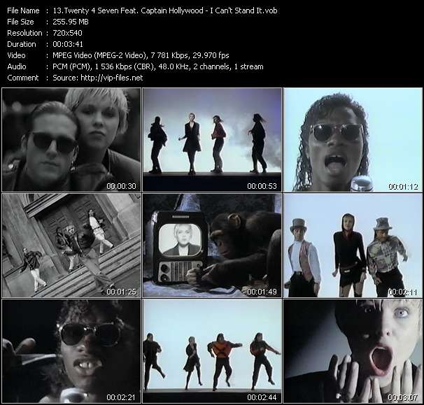 Twenty 4 Seven (Twenty 4th Street) (24th Street) Feat. Captain Hollywood video vob