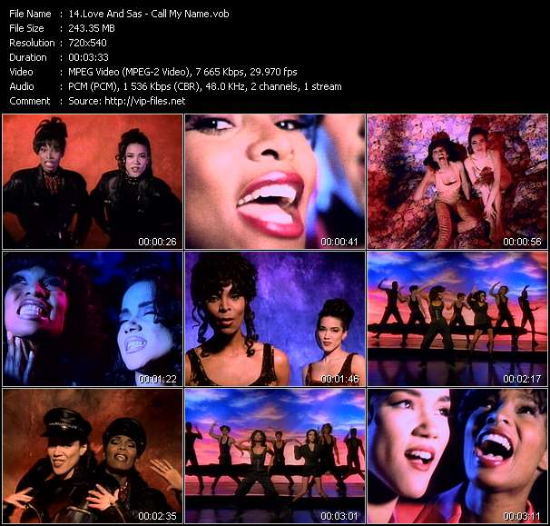 Screenshot of Music Video Love And Sas - Call My Name