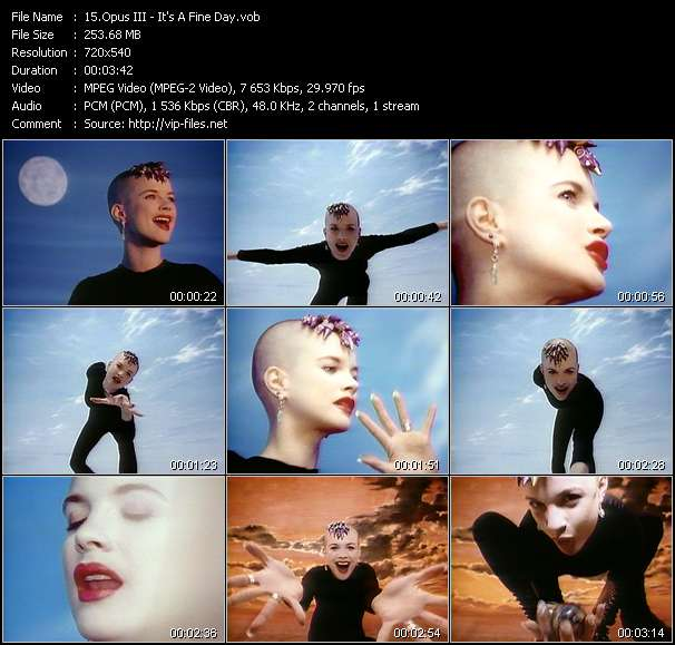Screenshot of Music Video Opus III - It's A Fine Day