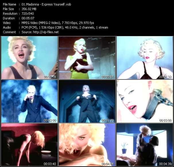 Madonna clips musicaux vob