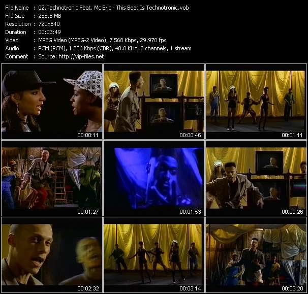 Screenshot of Music Video Technotronic Feat. Mc Eric - This Beat Is Technotronic