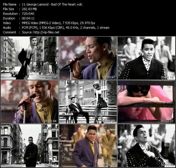 Screenshot of Music Video George Lamond - Bad Of The Heart