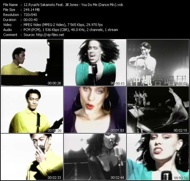 Screenshot of Music Video Ryuichi Sakamoto Feat. Jill Jones - You Do Me (Dance Mix)