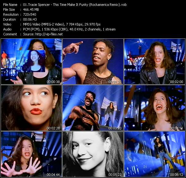 Screenshot of Music Video Tracie Spencer - This Time Make It Funky (Rockamerica Remix)