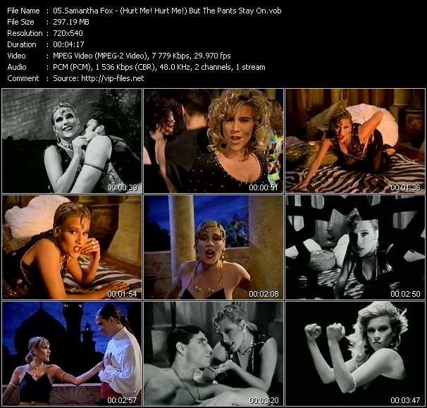 Screenshot of Music Video Samantha Fox - (Hurt Me! Hurt Me!) But The Pants Stay On