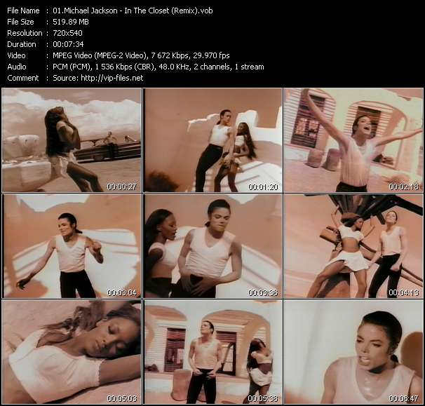 Screenshot of Music Video Michael Jackson - In The Closet (Remix)