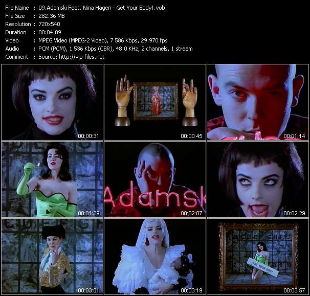 Screenshot of Music Video Adamski Feat. Nina Hagen - Get Your Body!