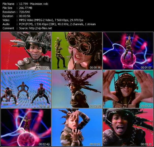 Screenshot of Music Video T99 - Maximiser