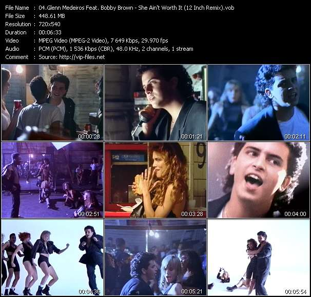 Screenshot of Music Video Glenn Medeiros Feat. Bobby Brown - She Ain't Worth It (12 Inch Remix)