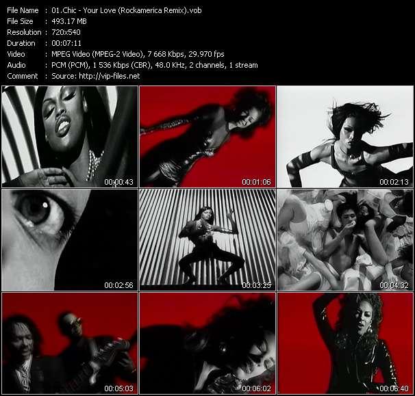 Screenshot of Music Video Chic - Your Love (Rockamerica Remix)