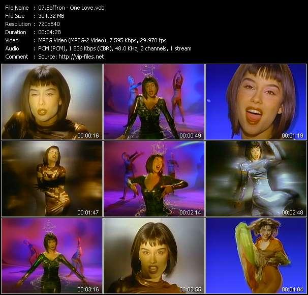Screenshot of Music Video Saffron - One Love