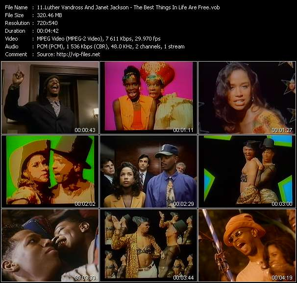Screenshot of Music Video Luther Vandross And Janet Jackson - The Best Things In Life Are Free