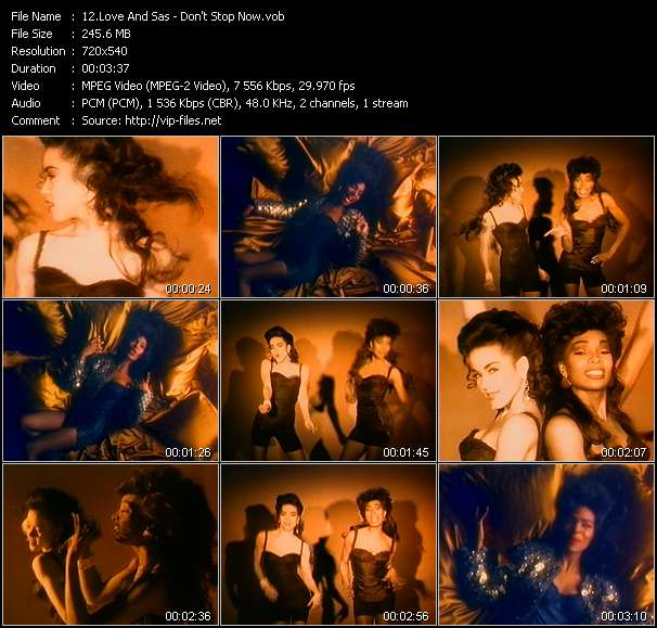 Screenshot of Music Video Love And Sas - Don't Stop Now