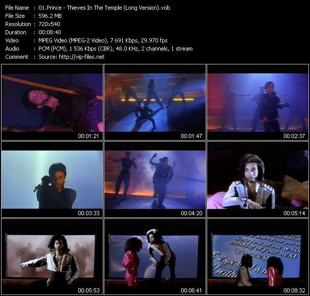 Screenshot of Music Video Prince - Thieves In The Temple (Long Version)