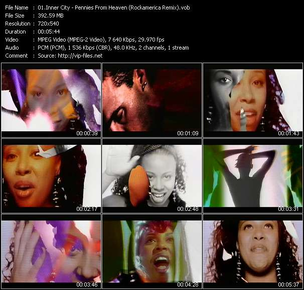 Screenshot of Music Video Inner City - Pennies From Heaven (Rockamerica Remix)