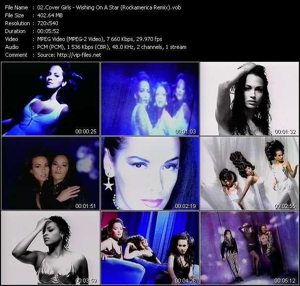 Screenshot of Music Video Cover Girls - Wishing On A Star (Rockamerica Remix)
