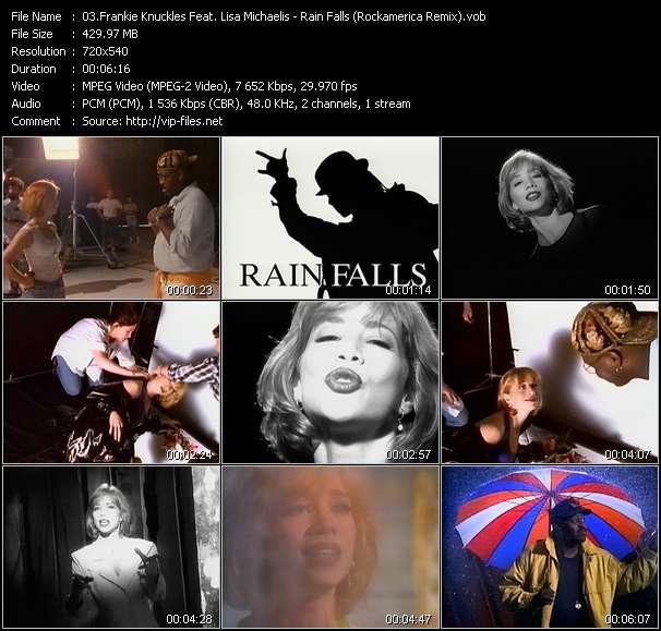 Screenshot of Music Video Frankie Knuckles Feat. Lisa Michaelis - Rain Falls (Rockamerica Remix)