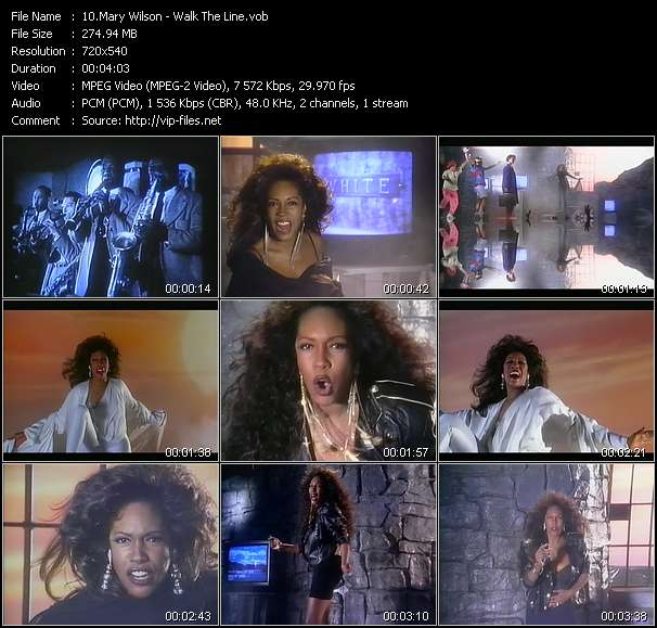 Screenshot of Music Video Mary Wilson - Walk The Line