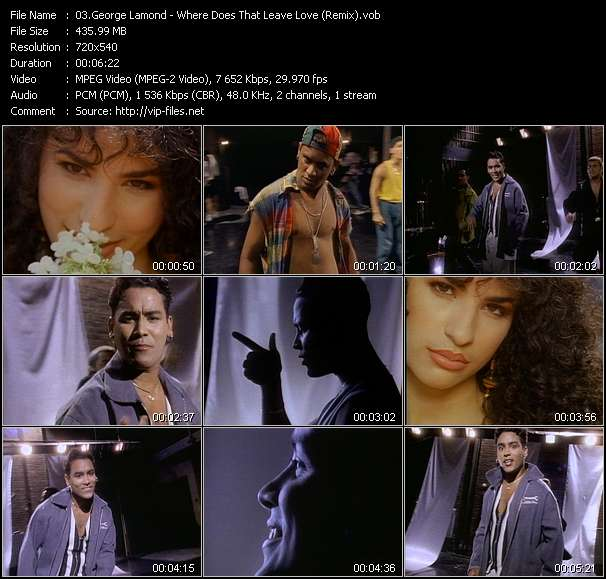 Screenshot of Music Video George Lamond - Where Does That Leave Love (Remix)