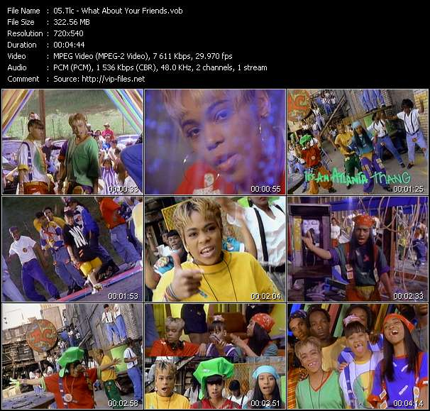 Screenshot of Music Video Tlc - What About Your Friends