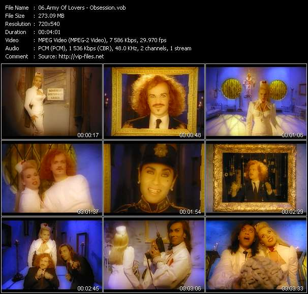 Army Of Lovers video vob