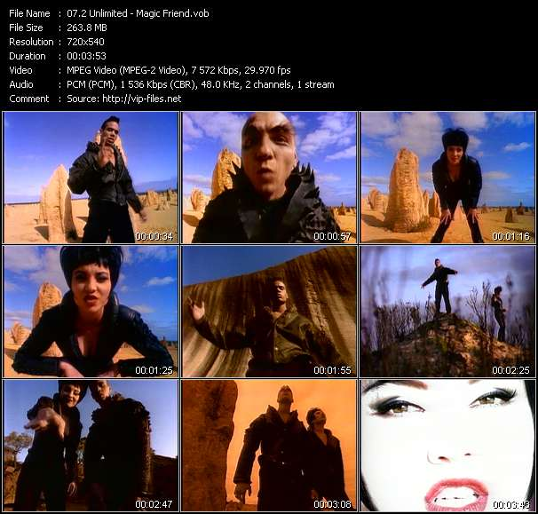 Screenshot of Music Video 2 Unlimited - Magic Friend