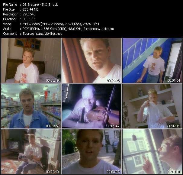 Screenshot of Music Video Erasure - S.O.S.