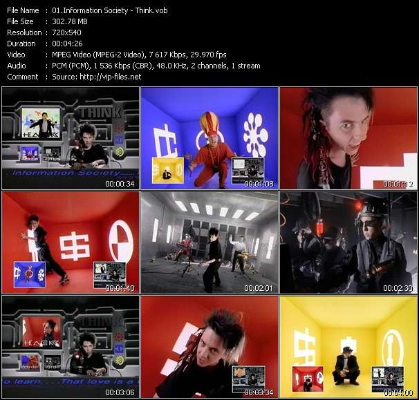 Screenshot of Music Video Information Society - Think