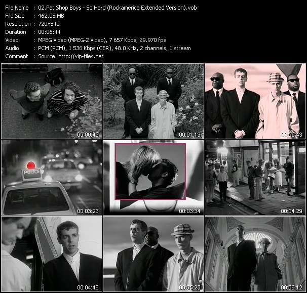 Pet Shop Boys clips musicaux vob
