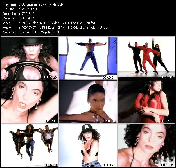 Screenshot of Music Video Jasmine Guy - Try Me