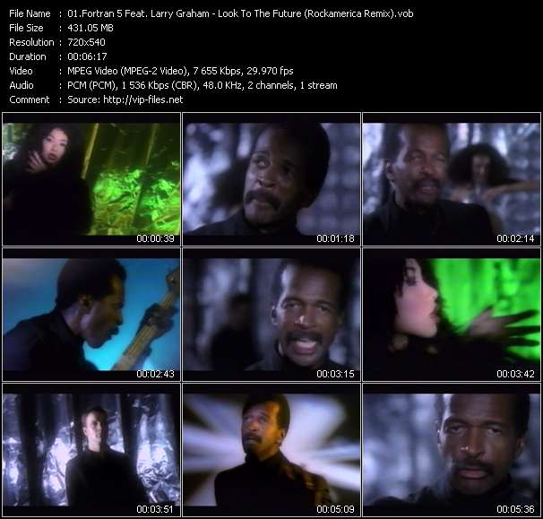 Screenshot of Music Video Fortran 5 Feat. Larry Graham - Look To The Future (Rockamerica Remix)