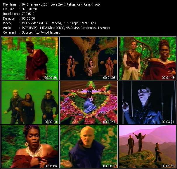 Screenshot of Music Video Shamen - L.S.I. (Love Sex Intelligence) (Remix)