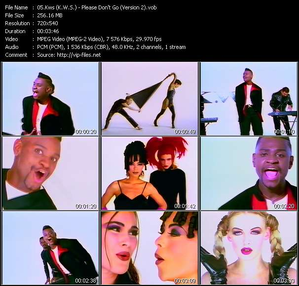 Screenshot of Music Video Kws (K.W.S.) - Please Don't Go (Version 2)