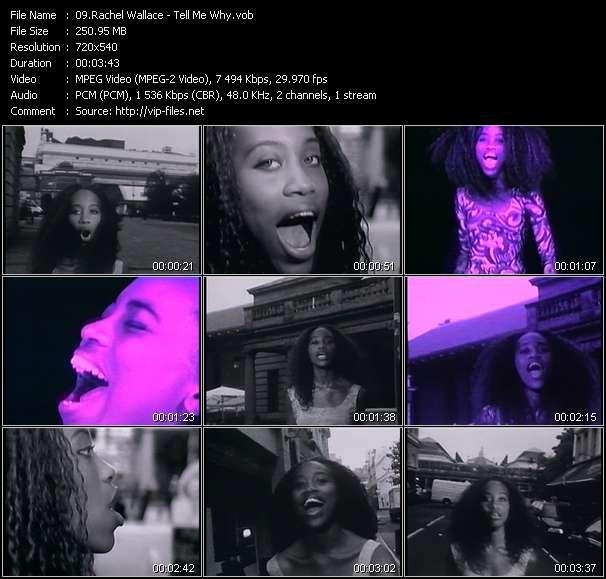 Screenshot of Music Video Rachel Wallace - Tell Me Why