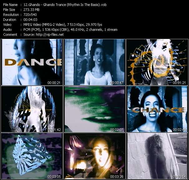 Screenshot of Music Video Ghando - Ghando Trance (Rhythm Is The Basis)