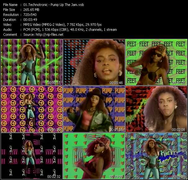Technotronic clips musicaux vob