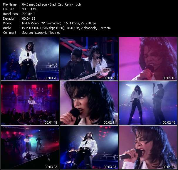 Screenshot of Music Video Janet Jackson - Black Cat (Remix)