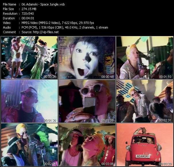 Screenshot of Music Video Adamski - Space Jungle