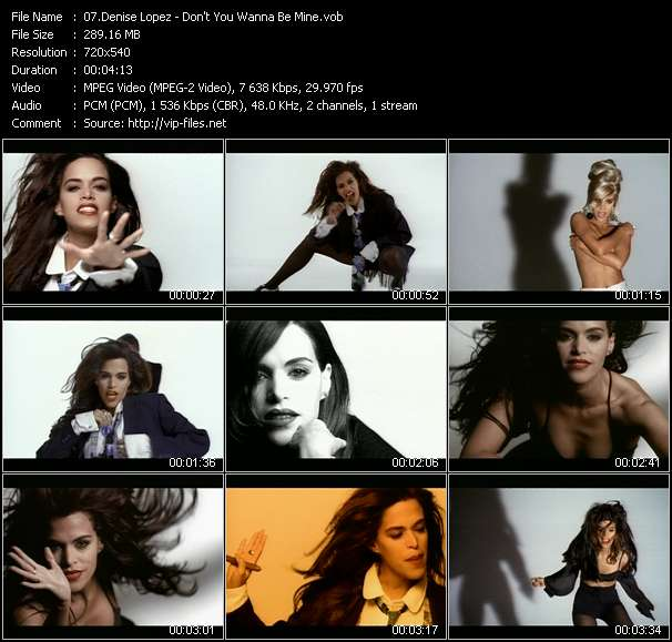 Screenshot of Music Video Denise Lopez - Don't You Wanna Be Mine
