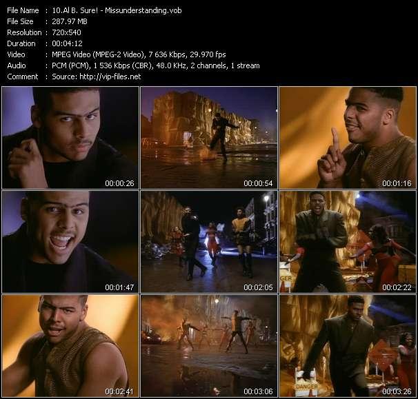 Screenshot of Music Video Al B. Sure! - Missunderstanding